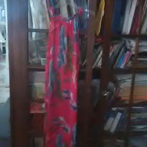 Hot pink tank top dress